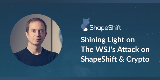ShapeShift - Erik Voorhees on WSJ attacks