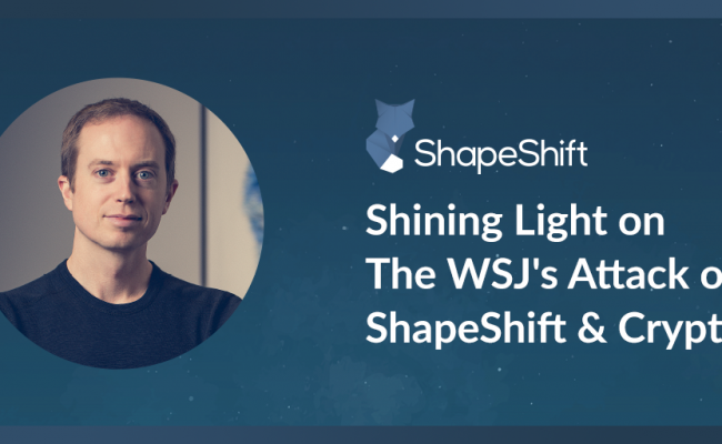 ShapeShift - Erik Voorhees on WSJ attacks